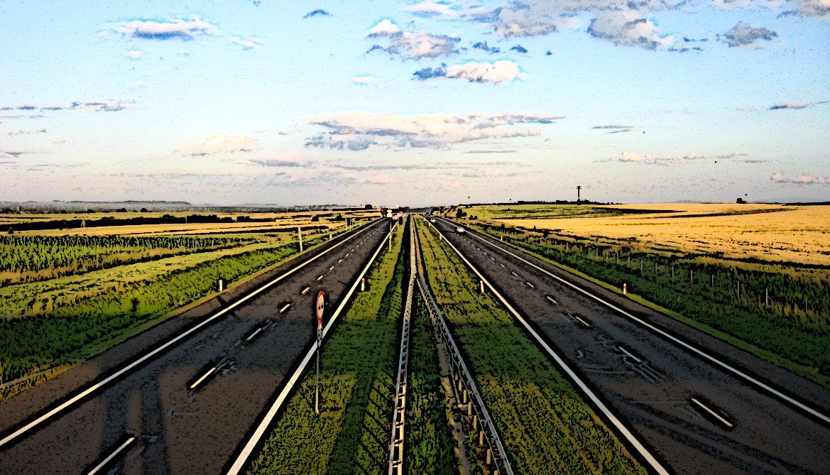 Bild einer Autobahn