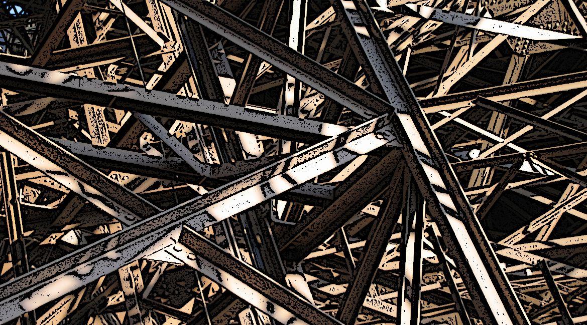 Bild eines Eisenträger-Geflechts