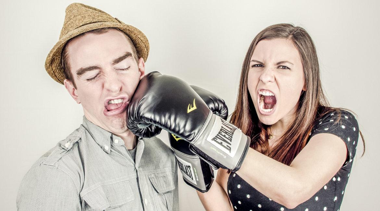 Bild eines boxenden Paares