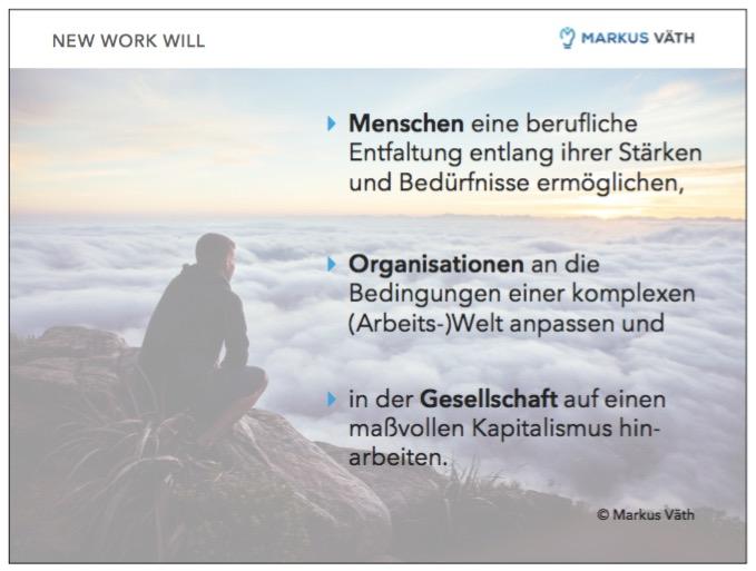 Screenshot Slide New Work - Ziele