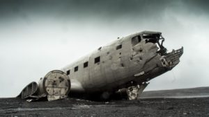 Bild eines abgestürzten Flugzeugs